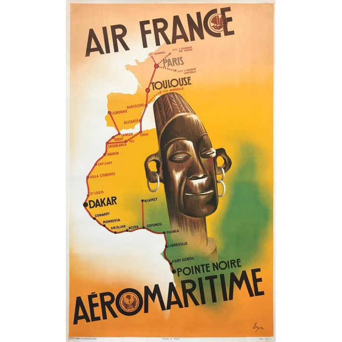 Affiche Ancienne Air France Aéromaritime
