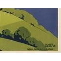 Affiche ancienne du Lac d'Annecy PLM. Signature de Roger Broders