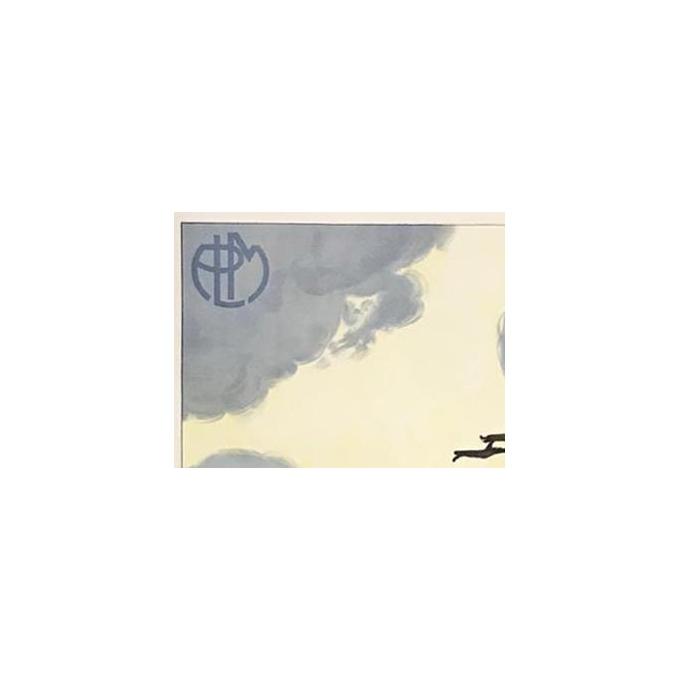 Vintage travel poster of Corse - Col de Bavella - PLM logo