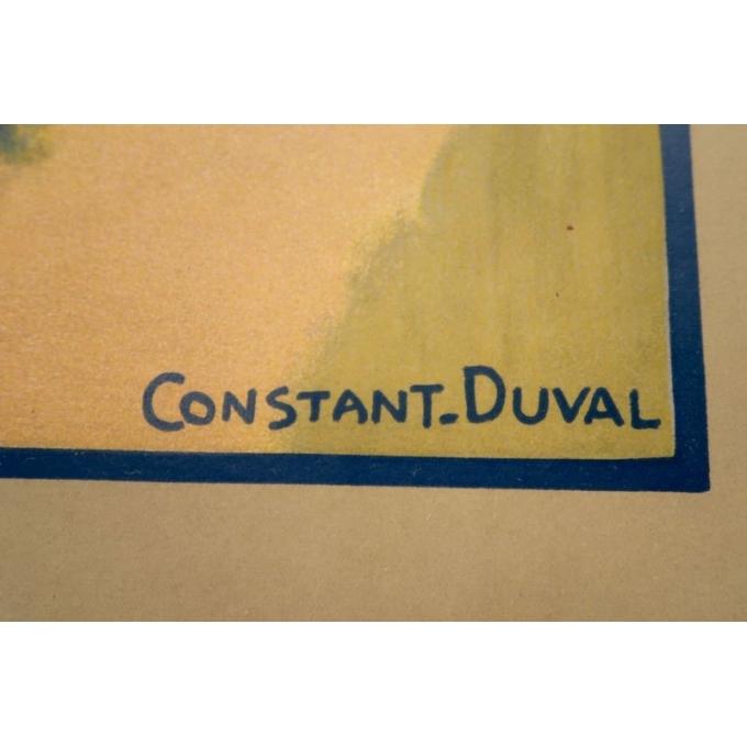 Affiche ancienne Beaulieu - La dordogne et la chapelle des pénitents - 1920 - Constant Duval - vue 2
