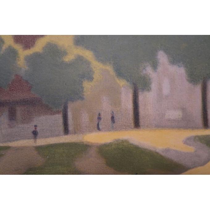 Affiche ancienne Beaulieu - La dordogne et la chapelle des pénitents - 1920 - Constant Duval - vue 5