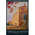 Vintage poster Castle of Nantes, France - Le grand logis - 1930 - Pierre Commarmond
