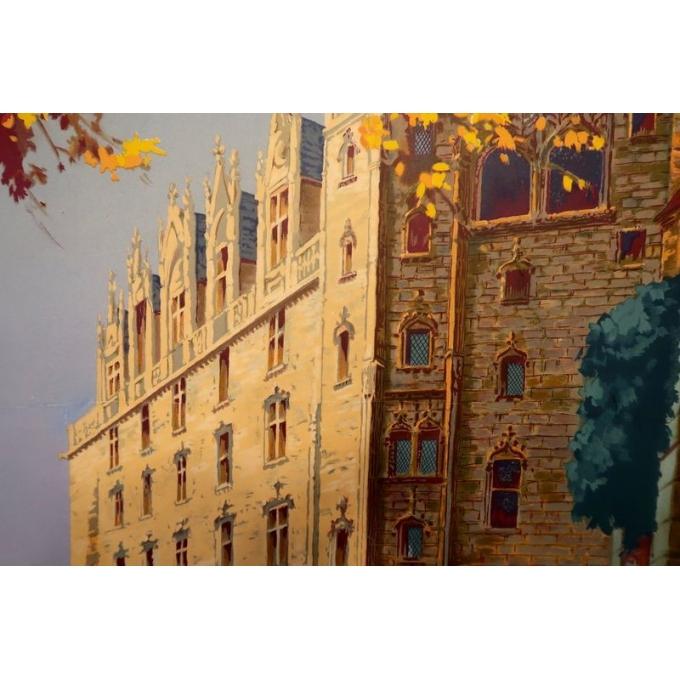 Affiche ancienne du Château de Nantes - Le grand logis - 1930 - Pierre Commarmond - vue 4