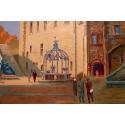 Affiche ancienne du Château de Nantes - Le grand logis - 1930 - Pierre Commarmond - vue 3
