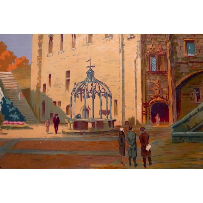 Vintage poster Castle of Nantes, France - Le grand logis - 1930 - Pierre Commarmond - view 4
