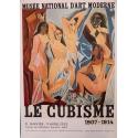 Affiche ancienne de 1953 de l'exposition sur le cubisme de 1907 à 1914
