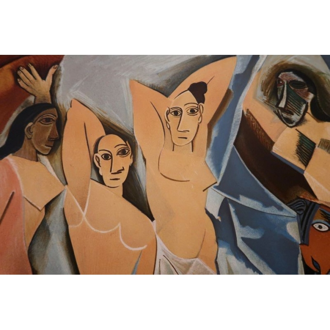 Vintage poster from 1953 from the exhibition on cubism from 1907 to 1914, Paris museum - view 2