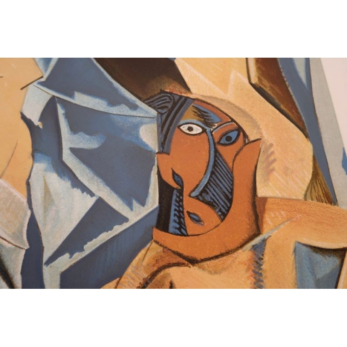 Vintage poster from 1953 from the exhibition on cubism from 1907 to 1914, Paris museum - view 3