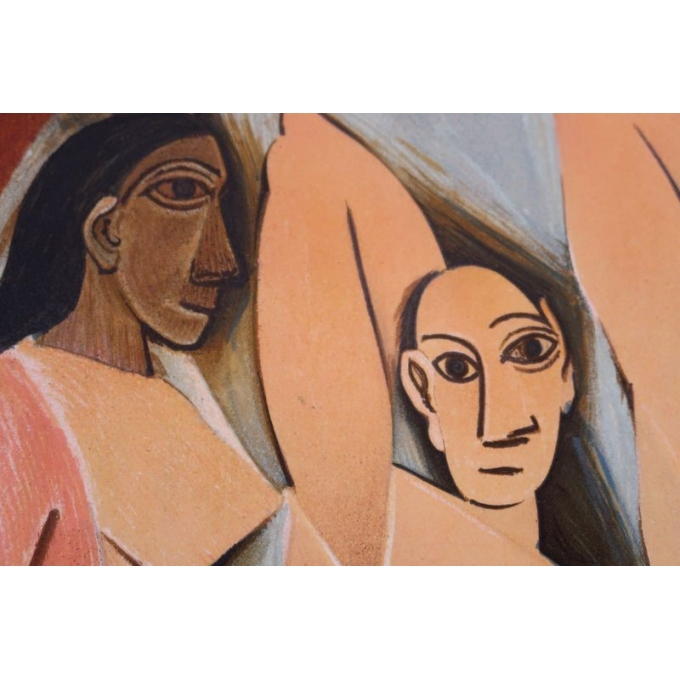 Vintage poster from 1953 from the exhibition on cubism from 1907 to 1914, Paris museum - view 4