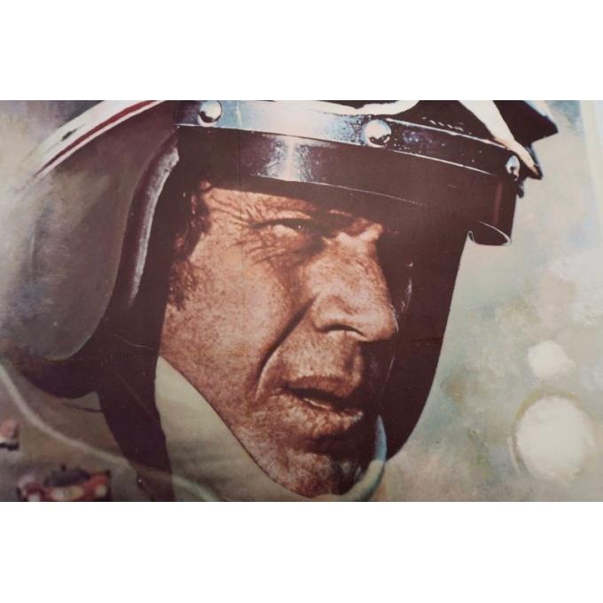 Affiche ancienne du film Steve Mc Queen Le Mans de 1971 signée par Ferracci - vue 2