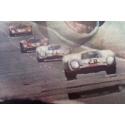 Vintage movie poster Steve Mc Queen Le Mans 1971, signed by Ferracci - vue 3