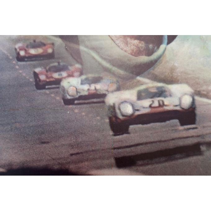 Vintage movie poster Steve Mc Queen Le Mans 1971, signed by Ferracci - view 3