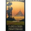 Vintage poster of Le Mont Saint Michel France -1920 - Signed by Constant Duval