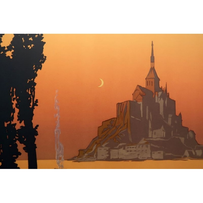 Vintage poster of Le Mont Saint Michel France -1920 - Signed by Constant Duval - View 4