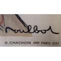 Affiche ancienne publicitaire de la République de Montmartre - 1933 - signée par Moullot - Imp. H Chachoin - vue 2
