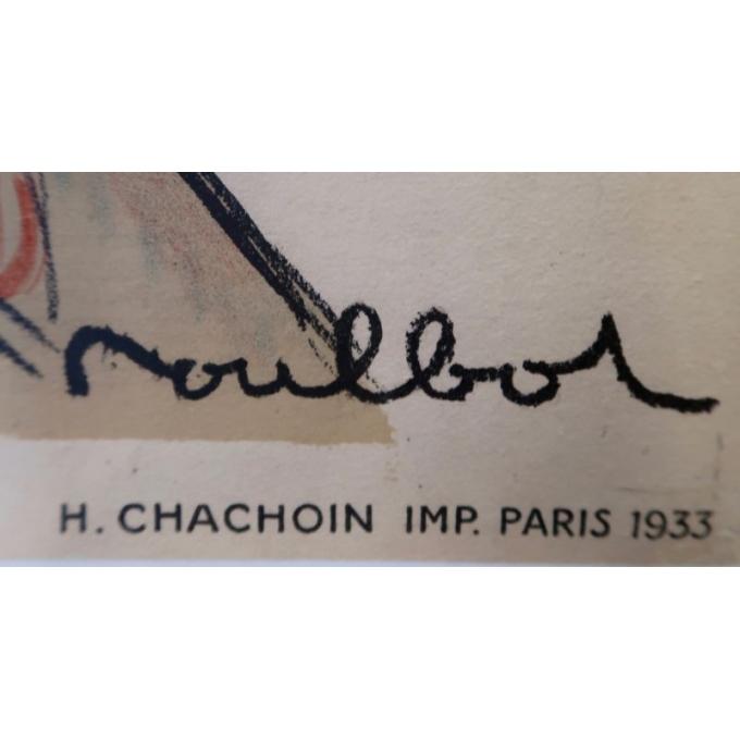 Vintage advertising poster for la République de Montmartre - 1933 - signed by Moullot - Printed by H Chachoin - view 2