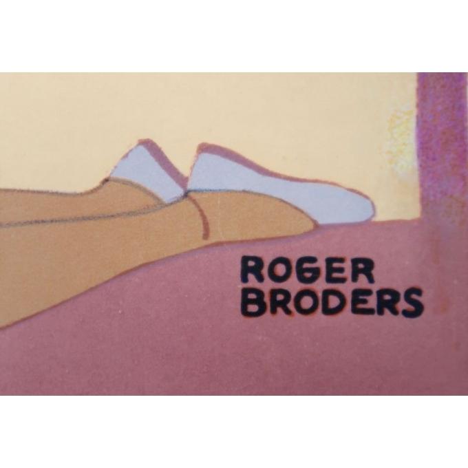 Affiche ancienne de voyage de Roger Broders 1928 - Antibes - vue 4