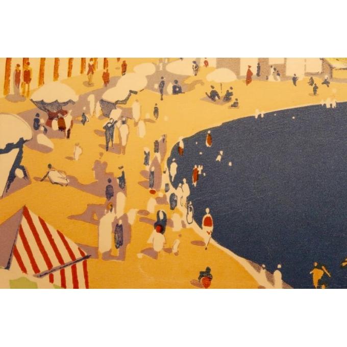 Affiche ancienne de voyage de Roger Broders 1928 - Antibes - vue 5