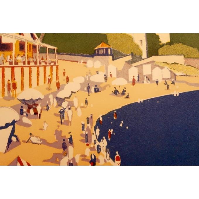 Affiche ancienne de voyage de Roger Broders 1928 - Antibes - vue 6