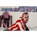 Affiche ancienne Chamonix Mt Blanc sports d'hiver - Championnat du monde de hockey - Roger Broders 1930 - 100 par 63 cm - vue 4