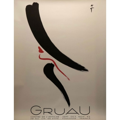 Original poster of René Gruau, fashion illustrator - 1992 - 47.2 by 63 inches