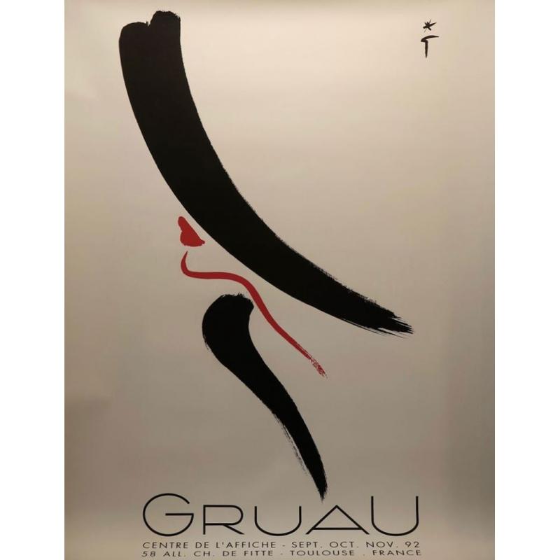 Affiche originale de l'illustrateur de mode René Gruau - 1992 - 120 par 160 cm