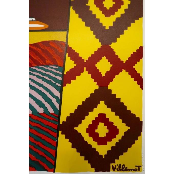 Original poster of Bernard Villemot - 1980, La Bourgogne. 30.3 by 47.2 inches - Vue 2