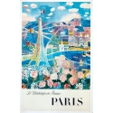 Affiche ancienne de Raoul Dufy : Le Printemps en France - 1950 - 100 x 63 cm