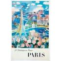 Original vintage poster by Raoul Dufy : Le Printemps en France - 1950 - 39.3 x 24.8 inches