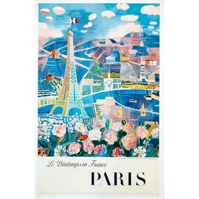Affiche ancienne de Raoul Dufy : Le Printemps en France - 1950 - 100 x 63 cm