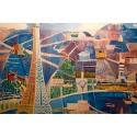 Affiche ancienne de Raoul Dufy : Le Printemps en France - 1950 - 100 x 63 cm - Vue 2