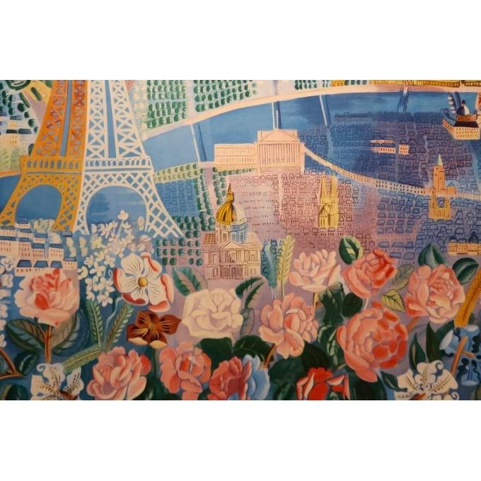 Affiche ancienne de Raoul Dufy : Le Printemps en France - 1950 - 100 x 63 cm - Vue 3