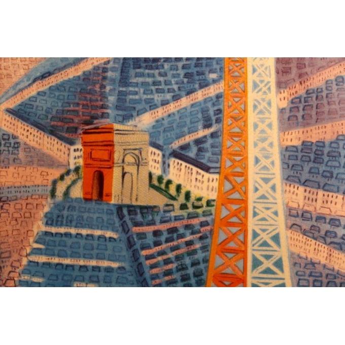 Affiche ancienne de Raoul Dufy : Le Printemps en France - 1950 - 100 x 63 cm - Vue 5