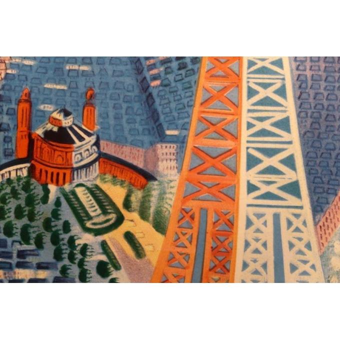 Affiche ancienne de Raoul Dufy : Le Printemps en France - 1950 - 100 x 63 cm - Vue 6