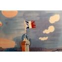 Affiche ancienne de Raoul Dufy : Le Printemps en France - 1950 - 100 x 63 cm - Vue 7