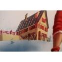 Affiche ancienne de voyage et publicité Limone Piemonte station de ski Italie - 1960 - Bertello - 69 x 98 cm - Vue 3
