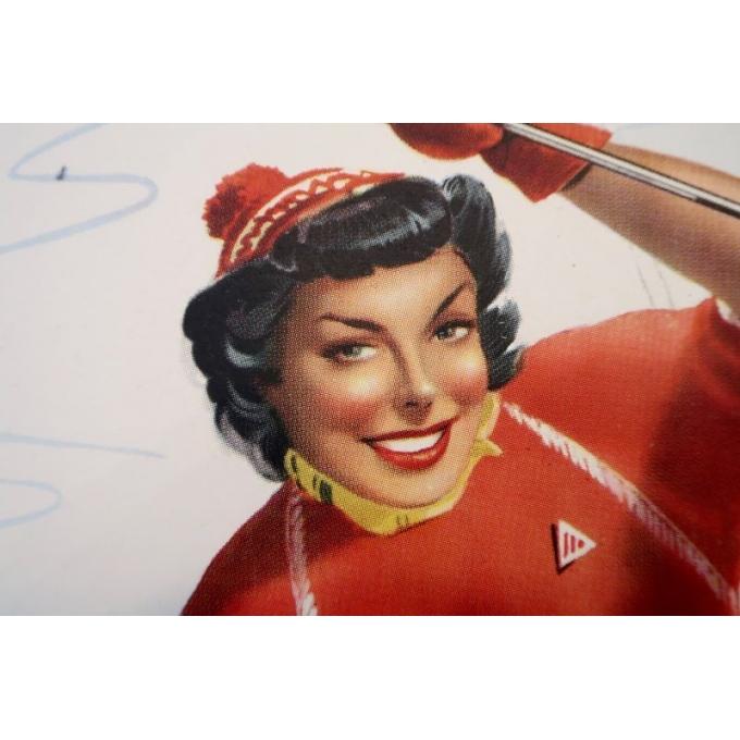 Affiche ancienne de voyage et publicité Limone Piemonte station de ski Italie - 1960 - Bertello - 69 x 98 cm - Vue 4