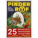 Vintage advertising poster for the Pinder circus shows La piste aux étoiles - Grinsson 1960 - 17.7 by 25.2 inches