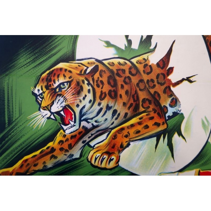 Affiche ancienne de publicité pour les spectacles du cirque Pinder La piste aux étoiles - Grinsson - 1960 - 45.5 x 64 cm - Vue 2