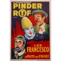 Vintage advertising poster for the Pinder circus - 1960 - Grinsson - Les Francesco - 17.7 by 25.2 inches