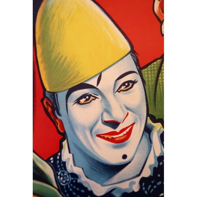 Affiche ancienne publicitaire pour le cirque Pinder - 1960 - Grinsson - Les Francesco - 45.5 par 64 cm - Vue 5