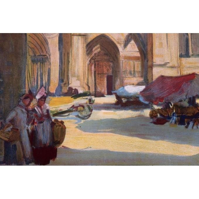 Affiche ancienne tourisme Sens - Henri Montassier - 1920 - 75.5 par 106 cm - Vue 3