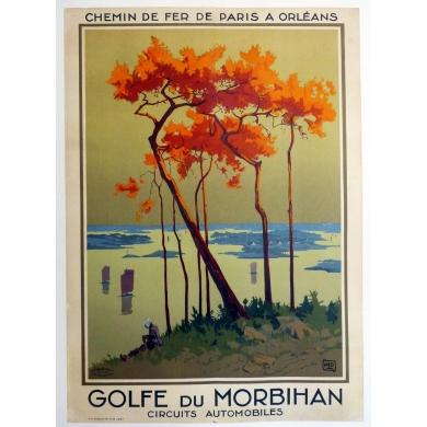 Vintage travel poster of France - Golfe du Morbihan 1927