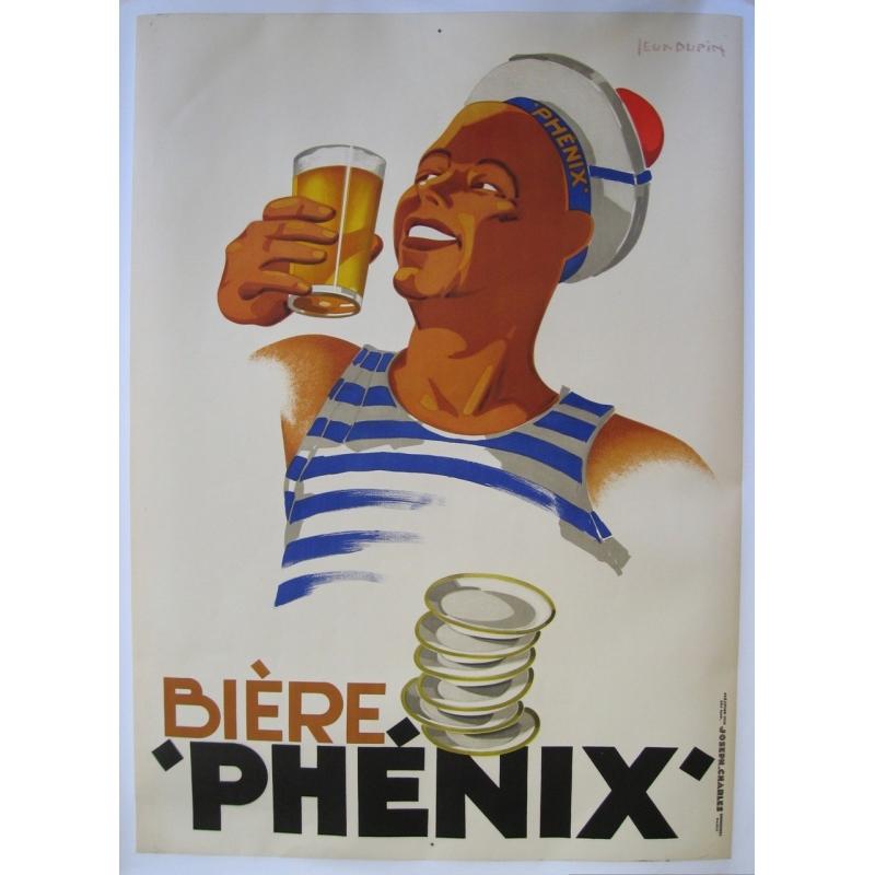 Bière Phénix affiche originale de Léon Dupin 1930