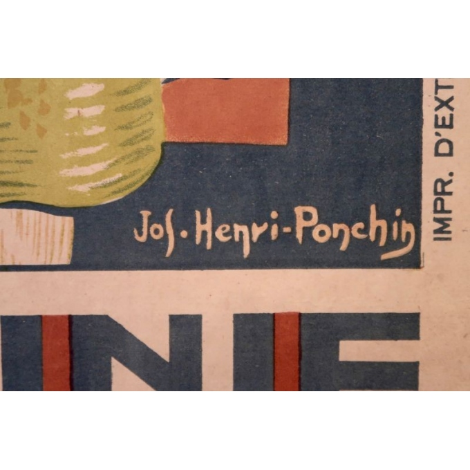 Affiche ancienne Annam Hué, l'Indochine française - Henri Ponchin - 1931 - 111 x 76 cm - Vue 5