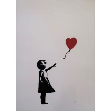 D'après Banksy - contemporary silkscreen - 19.3 by 26 inches