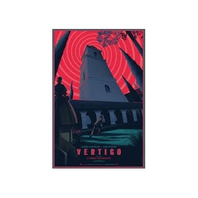 VERTIGO ( Sueurs froides ) affiche originale. Elbé Paris.