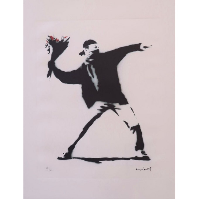 D'après Banksy 27/150 - Contemporary silkscreen printing - 19.6 by 26 inches