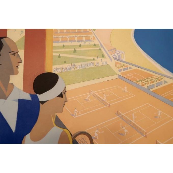 Affiche ancienne de tourisme - Roger Broders - 1930 - Monte-Carlo - 100 x 63 cm - Vue 2