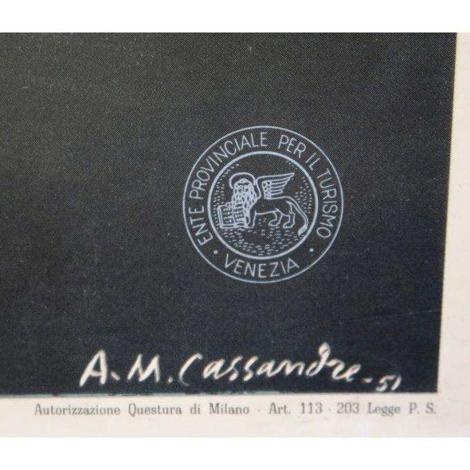 Affiche ancienne de voyage - A.M Cassandre - 1951 - Venezia - 62 x 100 cm - Vue 2